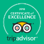 Certificate of Excellence by Trip Advisor Logo