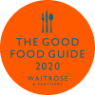 The good Food Guide 2020 by Waitrose & Partners Logo